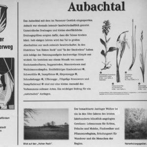 Infotafel am Auringer Rundwanderweg | Aubachtal