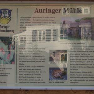 Infotafel am Auringer Rundwanderweg | Auringer Mühle