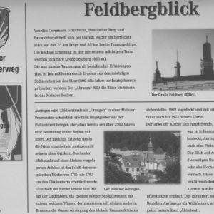 Infotafel am Auringer Rundwanderweg | Feldbergblick