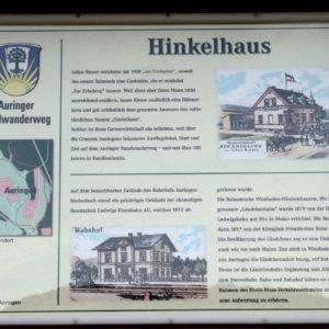 Infotafel am Auringer Rundwanderweg |Hinkelhaus