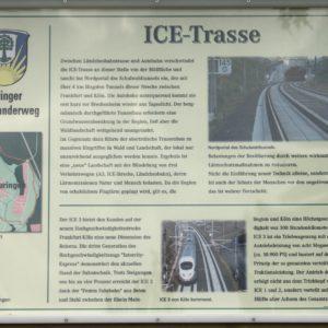 Infotafel am Auringer Rundwanderweg | ICE-Trasse