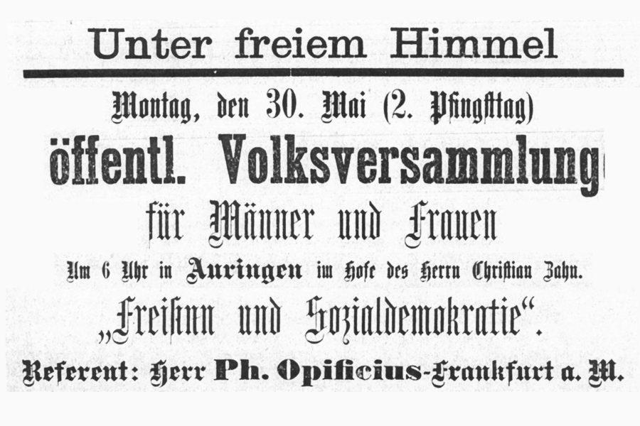 Wiesbadens erster SPD-Ortsverein: Auringen